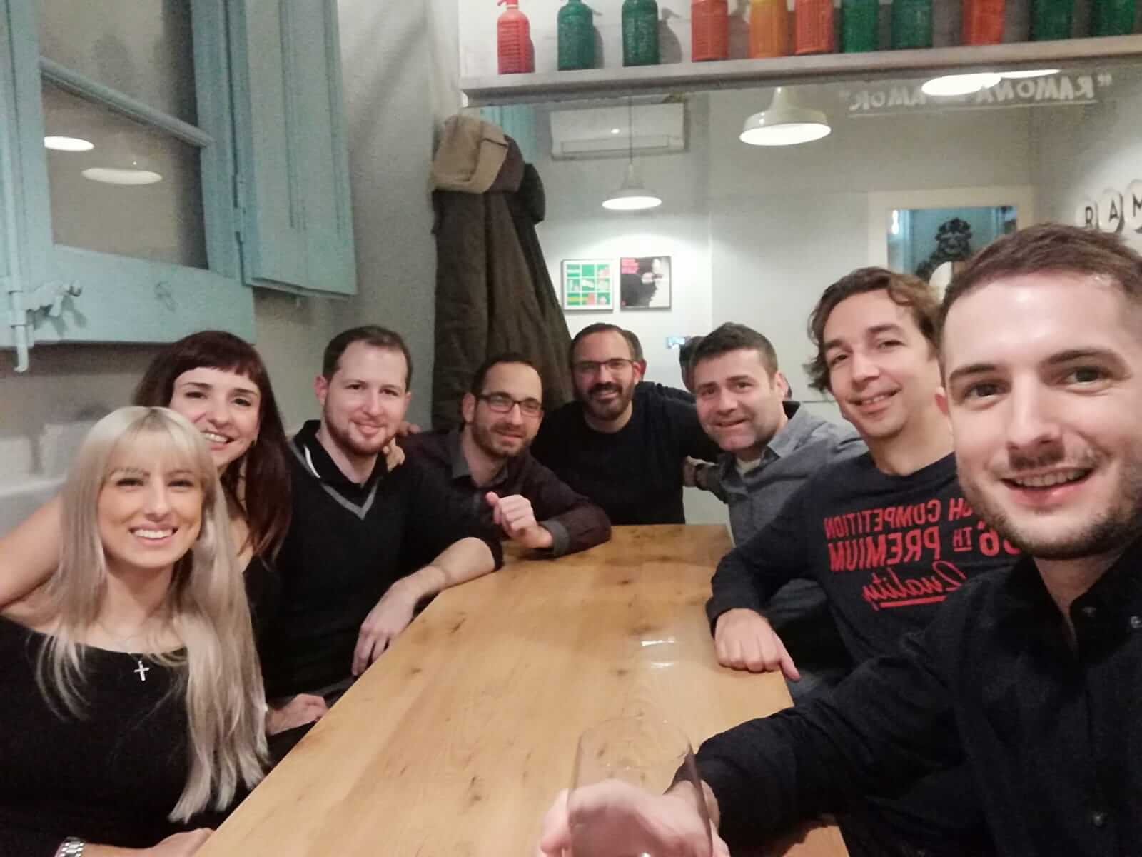 Coworking partners of Coco Place from Barcelona went to diner for the Christmas holidays